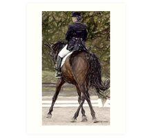 Dressage Horse Portrait Art Print
