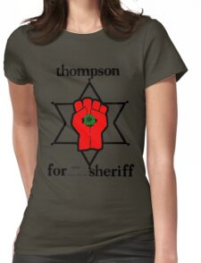 Thompson for Sheriff 2 Womens Fitted T-Shirt