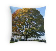 Two Tone Tree Throw Pillow