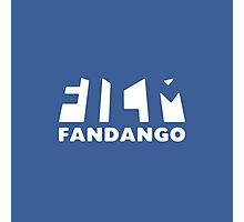 Film Fandango Logo - WHITE Photographic Print