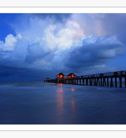 dawn at the pier Sticker