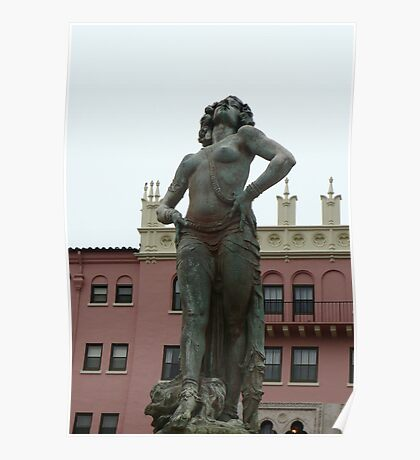 Statue At  Boca Raton Resort Poster