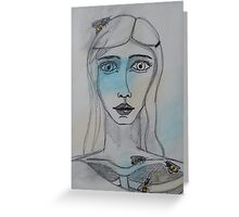 Girl:  Spilling Forth Greeting Card
