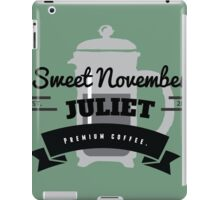 November Juliet Coffee iPad Case/Skin