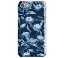 Evening Proteas - Denim Blue iPhone Case/Skin