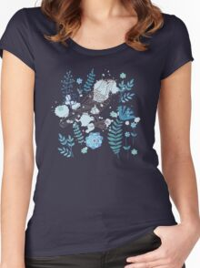 Bird with flowers Women's Fitted Scoop T-Shirt