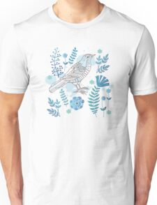 Bird with flowers Unisex T-Shirt