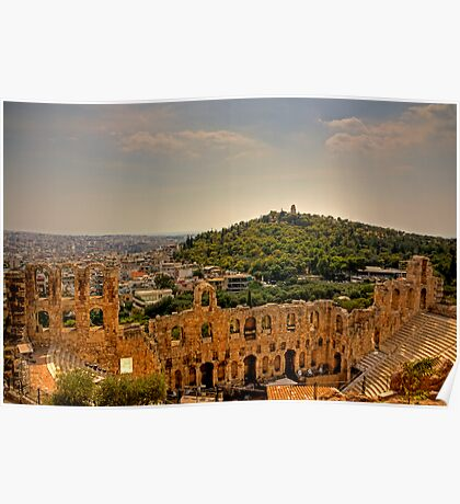 Looking South West from the Acropolis Poster