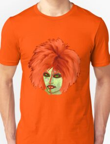Halloween for fun--witch with orange wig  Unisex T-Shirt
