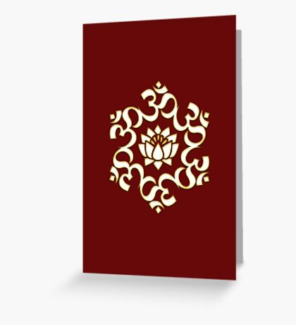 OM LOTUS - Buddhism - Symbol of spiritual strength  Greeting Card