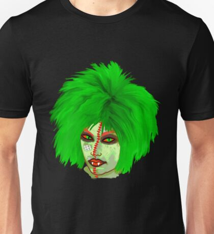 Halloween for fun--Witch green wig  T-Shirt