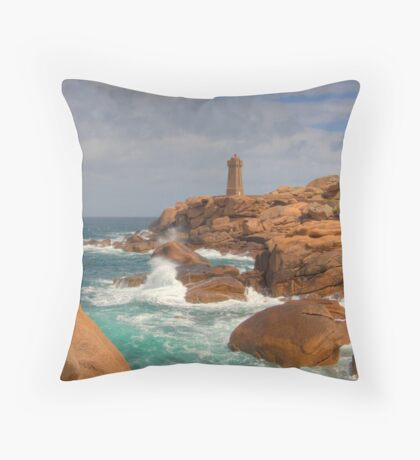 Ploumanac'h Lighthouse Throw Pillow