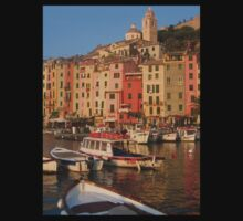 Cinque Terre Unesco Portovenere Italian Fishing Village Greeting Card Kids Clothes