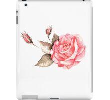 Watercolor rose iPad Case/Skin