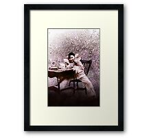 Vintage Sparkle Pink Clown Framed Print