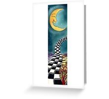 Psychedelic-Skateboard Deck Graphic Greeting Card