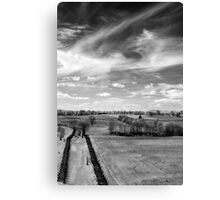 Tranquil Battlefield, Chaotic Sky Canvas Print