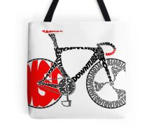 Typographic Anatomy of a Track Bike Tote Bag