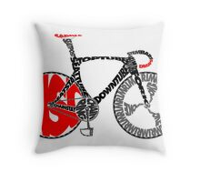 Typographic Anatomy of a Track Bike Throw Pillow