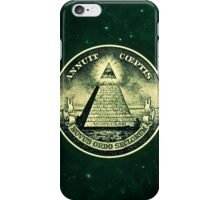 All seeing eye, pyramid, dollar, freemason, god iPhone Case/Skin