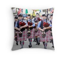 Highland Games Bagpipes Throw Pillow