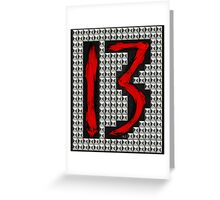studded 13 Greeting Card