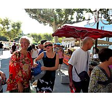 Marketday in Collioure Photographic Print