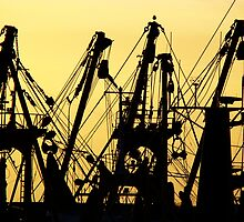 Silhouettes in the local harbour by Kaleidoking