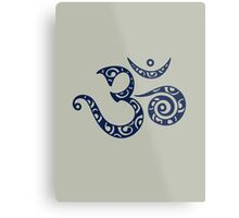 OM MANTRA - Buddhism - Symbol of spiritual strength  Metal Print