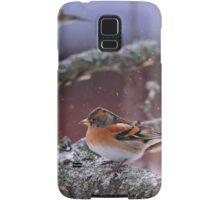 Bramblings in the snow Samsung Galaxy Case/Skin