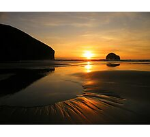 Cornwall: Patterns in the Sunset Photographic Print