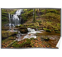 Autumn at Scaleber Force  Poster