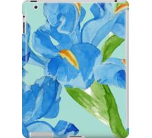 Watercolor iris spring flowers  iPad Case/Skin