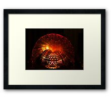 Red Fibre Optic Lamp Framed Print