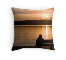 Sunset at Deerskin Lake Throw Pillow