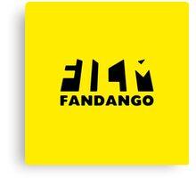 Film Fandango Logo - BLACK Canvas Print