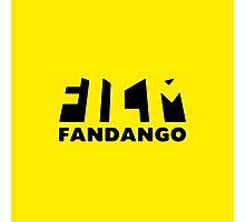 Film Fandango Logo - BLACK Photographic Print