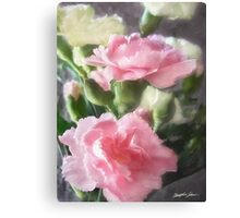 Pink and White Carnations 1 Canvas Print