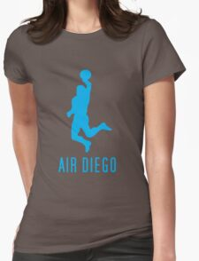 Air Diego Cyan Womens Fitted T-Shirt