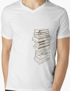 Stack of Knowledge Mens V-Neck T-Shirt