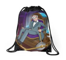 The Traveller Departs Drawstring Bag