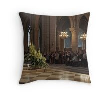 Notre Dame - leading the congregation Throw Pillow