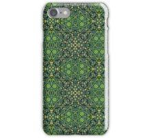 Intricate green pattern iPhone Case/Skin
