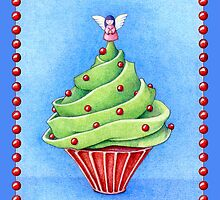 Christmas Tree Cupcake blue by Mariana Musa