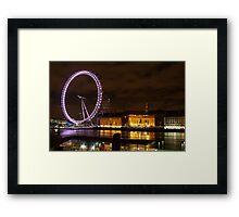 Eye & County Hall from Embankment Framed Print