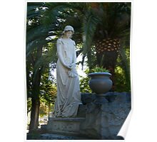 Beautiful Cemetery Statue Poster