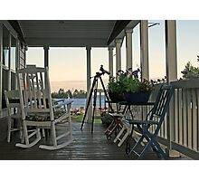 chairs on porch Photographic Print