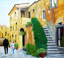 A Stroll With Papa In Italy by Digital-Limn