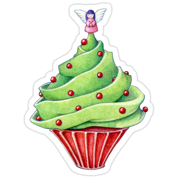 Christmas Tree Cupcake by Mariana Musa