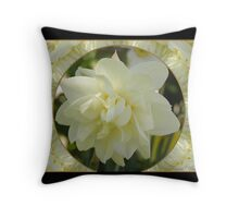 Narcissius White Medal Throw Pillow